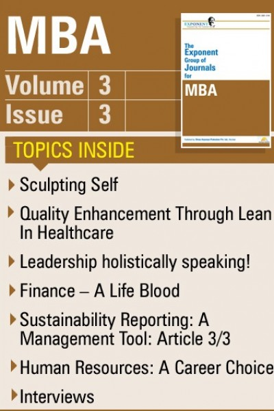 MBA – Volume 3 – Issue 3