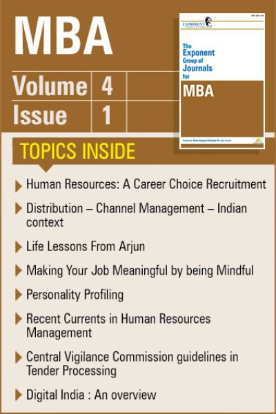 MBA – Volume 4 – Issue 1