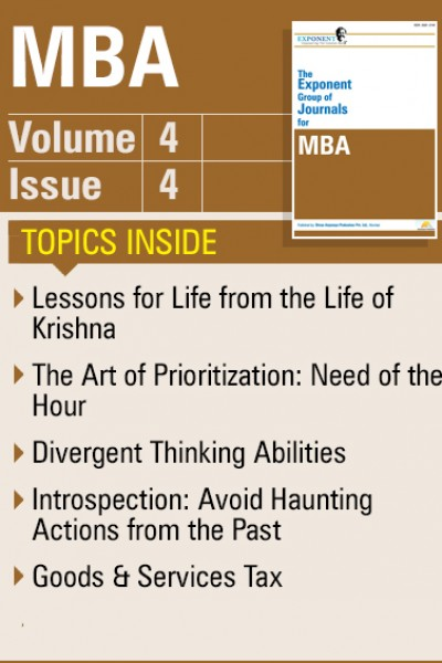 MBA – Volume 4 – Issue 4
